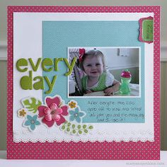 Simple scrapbook page using border punches