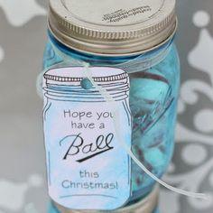 Printable Ball Mason Jar Gift Tags