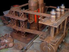The second table I made for Outlaw Miniatures is this industrial complex, a processing center for RJ-1027 the compound that powers much of...