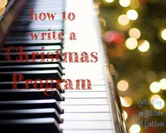 """How to Plan a Christmas Program"" for Sacrament Meeting! Definitely helpful in case I'm still choir director next year."