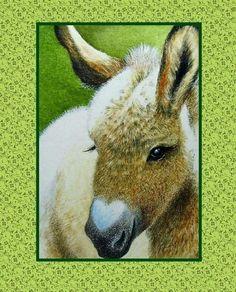 Carte Saint Valentin de Donkey affichiste mélodie Lea agneau