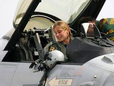 eyestothe-skies: Karen Vandenbroucke, Belgian Air Force F-16 pilot