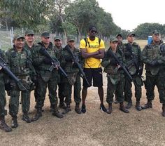 Usain Bolt hangs out with the Brazilian Navy as sprint king prepares to go to battle at the Rio Olympics    Jamaican sprinting legend Usain Bolt has taken some time out from his Olympic preparations to hang out with members of the Brazilian Navy.  Bolt and the rest of his country's track and field stars have been working out at the Centro de Educacao Fisica Almirante Adalberto Nunes a Brazilian Naval training centre in the build up to the games which begin on August 5.      Gallery