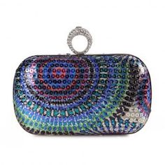 $13.40 Stylish Women's Evening Bag With Sequins and Rhinestones Design