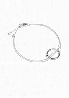 Other Stories Geometric Circle Bracelet in Silver