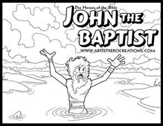 The Heroes Of Bible Coloring Pages John Baptist