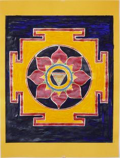 really beautiful version of a Kali Yantra with the five downward facing triangles