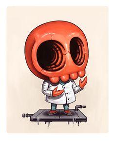 #Zoidberg #Skull by Mike Mitchell (@sirmitchell) | #Futurama