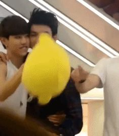 Mark and Jr (gif) so cute!