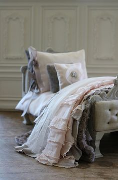 Custom bed and linens | by Abi Monroe