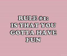 and that's the only rule