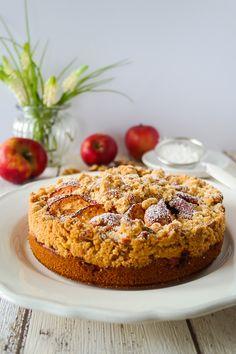 Apfel-Walnuss-Crumble-Kuchen
