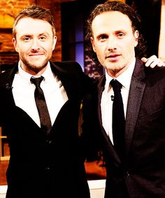 Chris Hardwick and Andrew Lincoln // Talking Dead