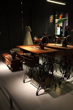Treadle sewing machine. If the power ever went out, this would be a great item to have.;-)