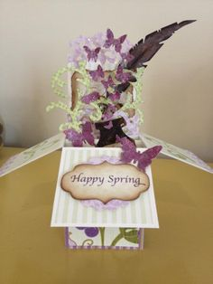 Happy Spring Pop up Card by sewmuchtoink - Cards and Paper Crafts at Splitcoaststampers