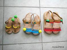 🌻Handmade leather sandals🌻Χειροποίητα δερμάτινα σανδάλια Handmade Leather, Leather Sandals, Baby Shoes, Kids, Fashion, Young Children, Moda, Boys, Fashion Styles