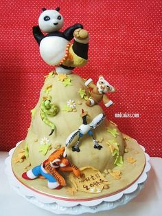 Kungfu Panda Cake by amy teoh For Jacqui Kung Fu Panda Cake, Panda Cakes, Cupcake Cakes, Kid Cakes, Cupcakes, Cake Accessories, Panda Party, Disney Cakes, Specialty Cakes