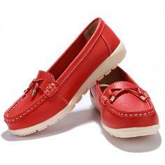 Leather women flats shoes - Uniqistic.com