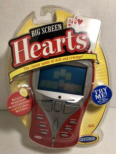 Radica Big Screen Hearts Handheld Electronic Card Game-NOS Batteries Are Dead #Radica