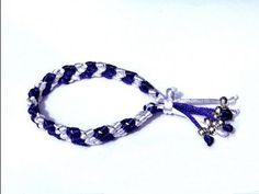 ▶ Beading ideas - Bracelet using Macrame part.4 - YouTube