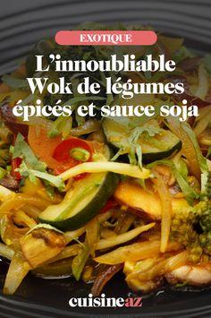 Cette recette au wok permet une cuisson lente et un développement subtil des arômes des légumes et aussi des épices. Ce wok de légumes épicés plus ou moins fort selon vos goûts, éveillera vos papilles gustatives. L'utilisation de la sauce soja permet d'apporter une saveur salée et donc nul besoin d'ajouter de sel. Un petit mélange de légumes, soja et champignons et cela fait une recette avec une petite touche asiatique. Saveur, Ajouter, Sauce, Diet Recipes, Tacos, Beef, Ethnic Recipes, Asian Vegetables, Asian Recipes