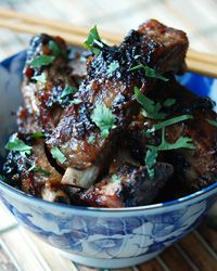 Baby Back Ribs with Black Beans and Scallions // Fantastic Barbecued Ribs: http://www.foodandwine.com/slideshows/barbecued-ribs #foodandwine