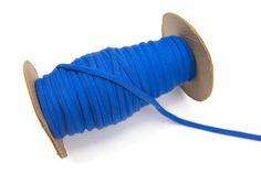 Blue Knit Jersey Trim Spaghetti Straps Hollow by felinusfabrics