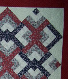 Quilt of Valor SEE www.napquilting.com  Most repinned Pin! custom quilting red white and blue quilt patriotic quilt star quilt