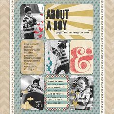 """About A Boy…"" by Jennifer, as seen in the Club CK Idea Galleries. #scrapbook #scrapbooking #creatingkeepsakes"