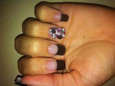 Rhinestone nail <3