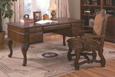 Neo Renaissance Home Office Desk By CrownMark Furniture. A classic addition to the home or office. This Home and Office Desk brings traditional styling to any setting. Luxury Furniture Stores, Home Office Furniture Sets, Home Office Desks, New Furniture, Furniture Dolly, Furniture Companies, Discount Furniture, Furniture Ideas, Home Design