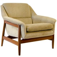 Danish Dux Style Lounge Chair Teak Frame | 1stdibs.com