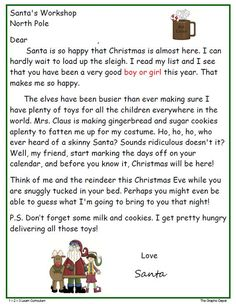 A Cute Ms Word Santa Letter Template From Christmas Letter Tips