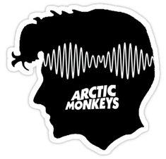 """""""Alex Turner - AM"""" Sticker"""