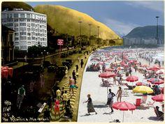 Exposição mescla fotografias antigas e técnicas novas para retratar Copacabana