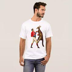 Vintage Kangaroo Boxer Boxing Sport T-Shirt - animal gift ideas animals and pets diy customize