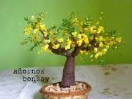 Resultado de imagen para arbol bonsai de lentejuelas