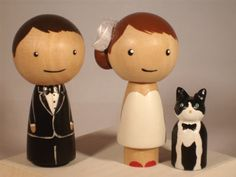 New Pet Topper Wedding Topper with One  Pet by IttyBittyWoodShoppe, $58.00