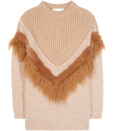Stella McCartney - Pullover in lana con ecopelliccia - Impossibile non cedere al…