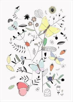 Butterflies by Studio Meez for L'Affiche Moderne