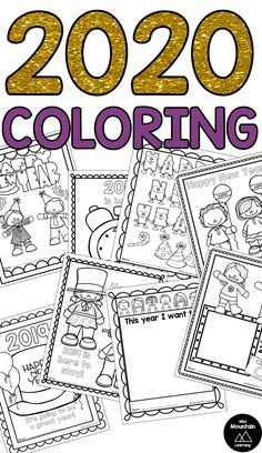 New Year coloring pages. Updated each year, updated for Fathers Day Coloring Page, New Year Coloring Pages, Valentines Day Coloring Page, School Coloring Pages, New Years With Kids, Chinese New Year Crafts For Kids, Happy New Year Quotes, Quotes About New Year, New Year's Eve Activities