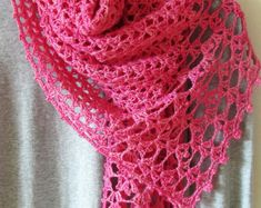 Lac Rose Scarf Crochet Pattern PDF