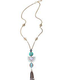 Phong Cách dân tộc Tua Dài Vòng Cổ Hợp Kim Mạ Vàng Chuỗi Mùa Hè Đảng Jewelry Của Tôi Đơn Đặt Hàng Bohemian Dây Chuyền & Mặt Dây