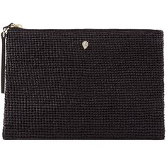 Helen Kaminski Raffia Crochet Pouch (€150) ❤ liked on Polyvore featuring bags, handbags, clutches, woven purse, pouch purse, crochet purse, woven tote and raffia tote bag