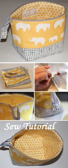 Cosmetic Bag Tutorial Sewing Cosmetic Bag Tutorial ~ How to sew for beginners. Step by step illustration tutorial.Sewing Cosmetic Bag Tutorial ~ How to sew for beginners. Step by step illustration tutorial. Sewing Hacks, Sewing Tutorials, Sewing Crafts, Sewing Tips, Tutorial Sewing, Sewing Ideas, Makeup Bag Tutorials, Bags Sewing, Makeup Ideas