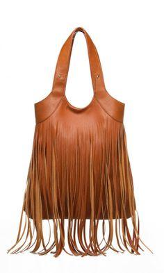 Beautiful brown fringe satchel.