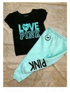 Toddler Baby Girls Love Pink Size Fall Winter Sweatpants Clothes Outfit Sets Omg I want a baby girl! Toddler Fall Outfits Girl, Winter Baby Clothes, Baby Kids Clothes, Baby Boy Outfits, Kids Outfits, Kids Clothing, Trendy Outfits, Pink Clothes, Clothes Sale