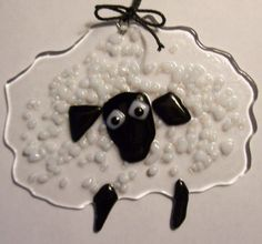 Fused glass sheep - Etsy