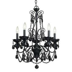 5-Light Black Chandelier! Getting for my bedroom!!