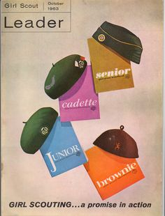 Girl Scout Leader Magazine Cover (October 1963).  These are the handbooks I used.
